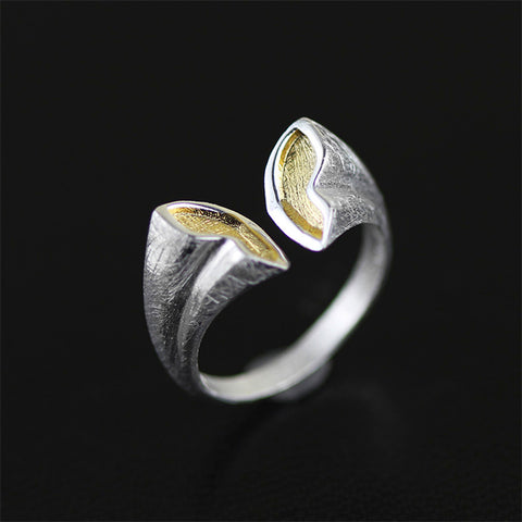 Real 925 Sterling Silver Natural Original Handmade Designer Fine Jewelry Butterfly Open End Rings for Women Bijoux