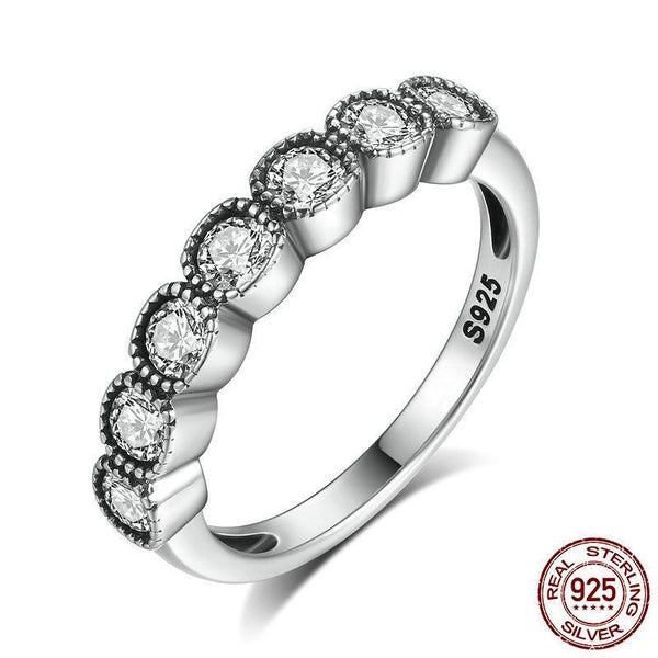 4MM Classic 100% 925 Sterling Silver Alluring Cushion, Clear CZ Finger Ring Women Engagement Ring