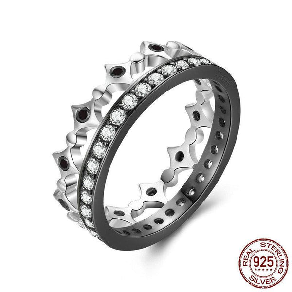 925 Sterling Silver Stackable Ring Freedom Light Clear CZ Geometric Rings For Women Wedding Engagement Ring