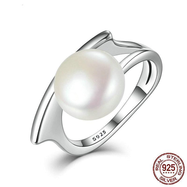 New Collection Authentic 100% 925 Sterling Silver Fresh Water Cultured Pearl Rings for Women Wedding Ring
