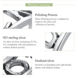 Authentic 925 Sterling Silver Good Luck Finger Ring Cocktail Female Rings for Women Engagement Ring Ring