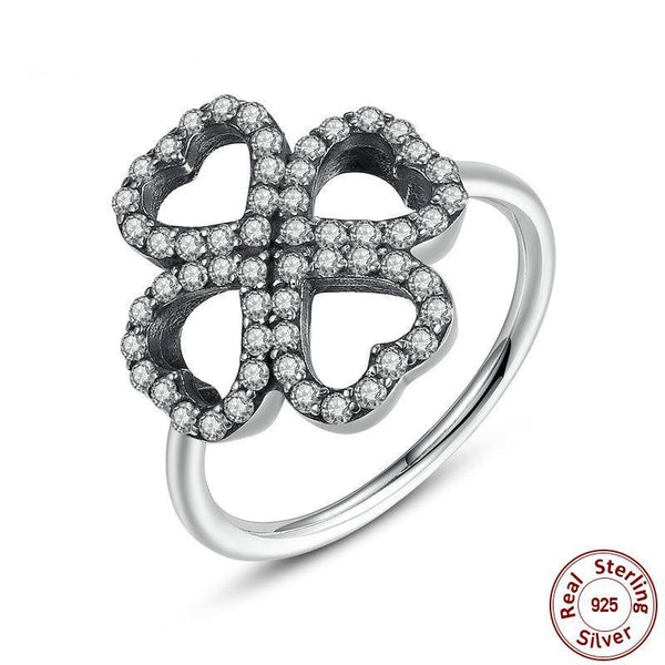 New Luxury 925 Sterling Silver Heart-Shaped Petals of Love Ring Ancient Silver Ring Original Ring