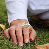 Real 925 Sterling Silver Natural Handmade Original Designer Fine Jewelry My Little Garden Open Female Rings Bijoux
