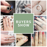 HOT SELL 100% Genuine 925 Sterling Silver Forever Clear Black CZ Circle Round Finger Rings for Women Ring