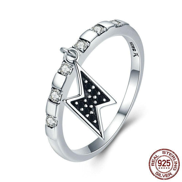 925 Sterling Silver Day Ring Thursday Thor Power Lighting Dangle Female Ring for Women Sterling Silver Ring