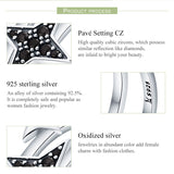 100% Authentic 925 Sterling Silver Sparkling Light Double Layers Open Size Finger Ring for Women Party Ring