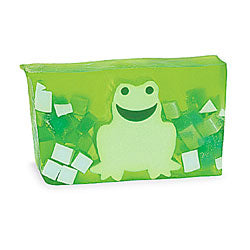 Primal Elements Handmade Glycerin Soap, Green Frog