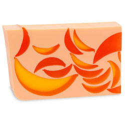 Primal Elements Handmade Glycerin Soap, Orange Cantaloupe