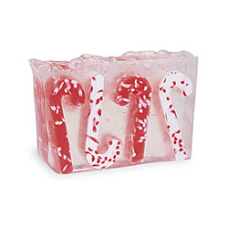 Primal Elements Handmade Glycerin Soap, Candy Cane