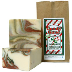 Candy Cane Handmade Soap
