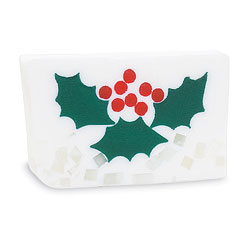 Primal Elements Handmade Glycerin Soap, Holly Berry