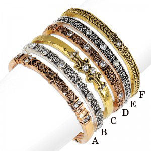 Multi-Metal Stretch Bangle Bracelets