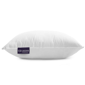 Lincove® Luxury Canadian 100% Natural White Down Pillow - Plush 625 Fill Power - 500 Thread Count