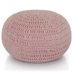 Load image into Gallery viewer, Pink Knit Pouf - Lincove