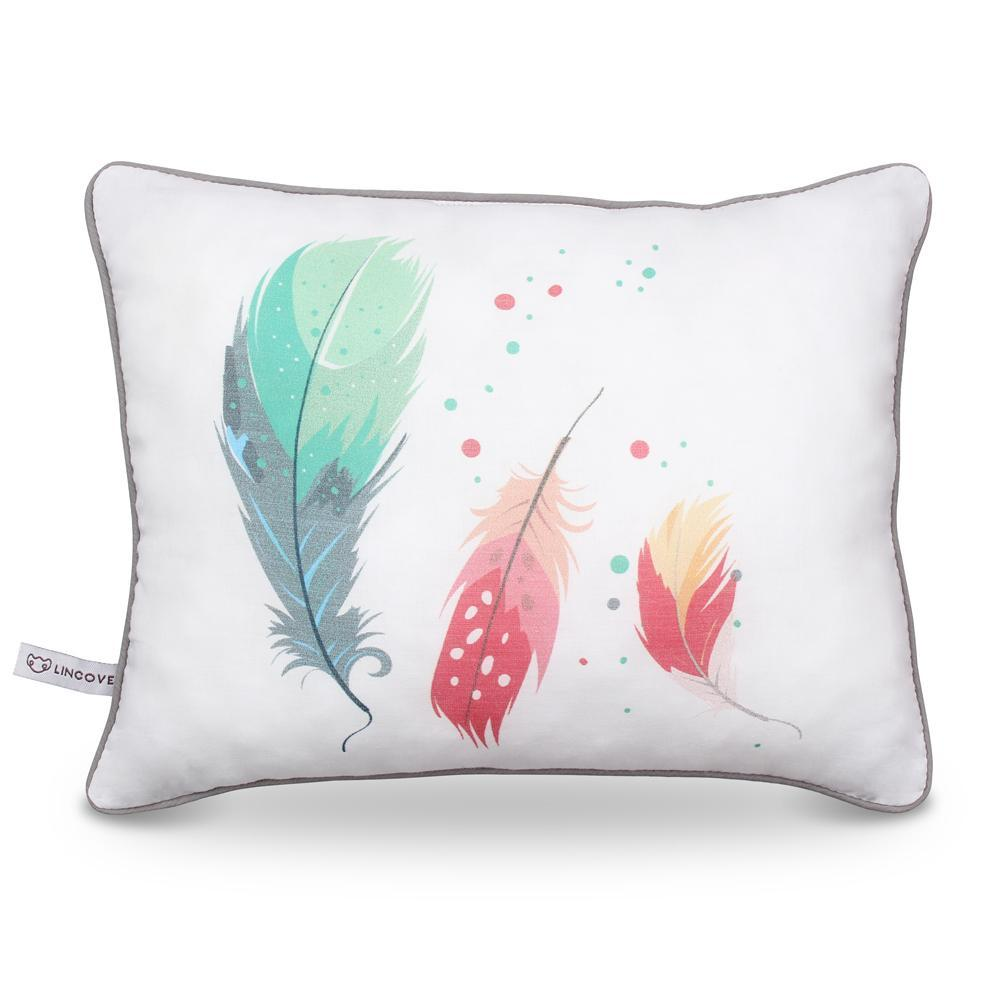 Feathers Print Pillow - Lincove