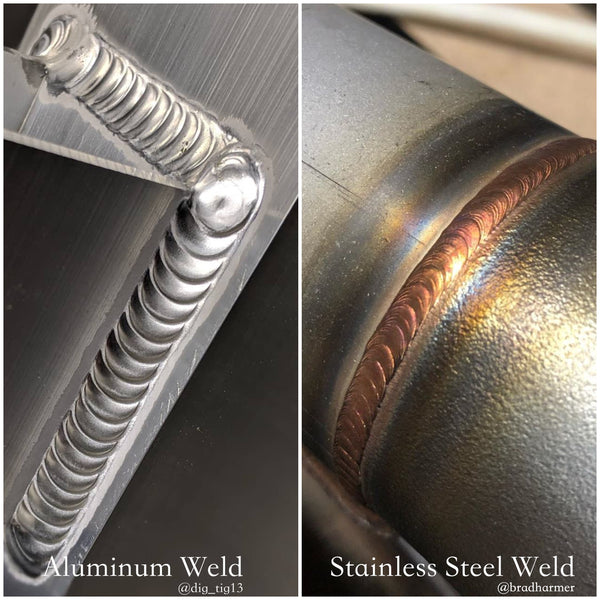 Different types of metal with TIG Welding