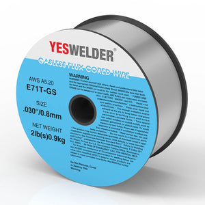 YesWelder® Gasless Flux Core Welding Wire, Carbon Steel E71TGS.030-inch on 2-Pound Spool - YesWelder
