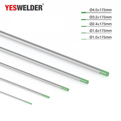 Pure Tungsten Electrode (Green, WP) | YesWelder® TIG Welding Electrode