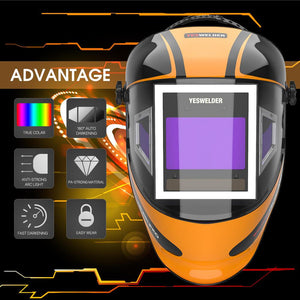 Auto Darkening Welding Helmet with Panoramic View | 302C - YesWelder