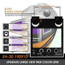 Load image into Gallery viewer, Auto Darkening Welding Helmet with Panoramic View | 302C - YesWelder
