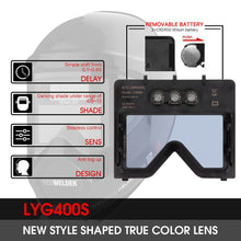 Load image into Gallery viewer, Auto Darkening Welding Helmet S400S | Panoramic View - YesWelder