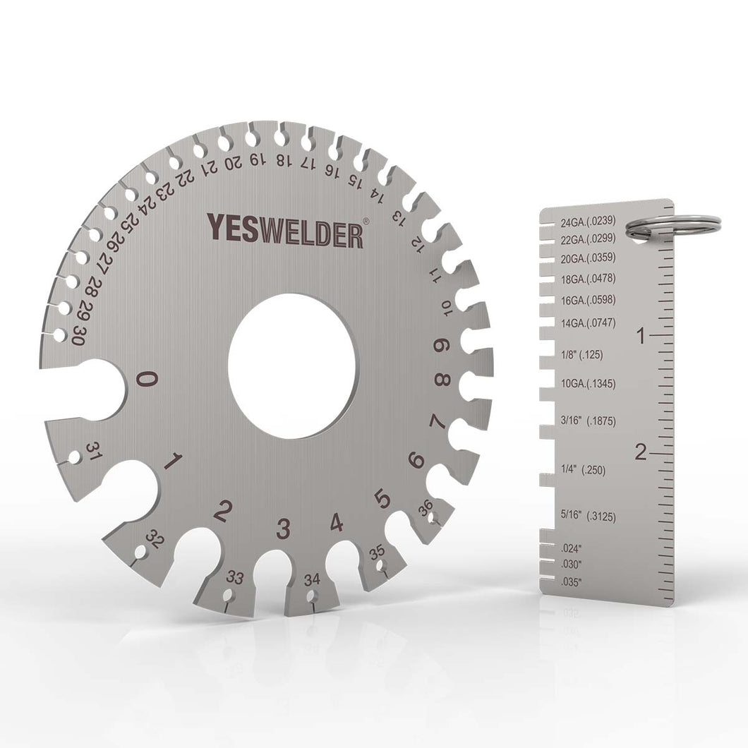 Stainless Steel Welding Gauge,LG-03 | Welding Inspection Tool | YesWelder Welding Supply Store - YesWelder