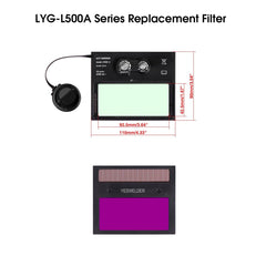 Welding Helmet Replacement Filter For L500A | YesWelder® Welding Supply Store