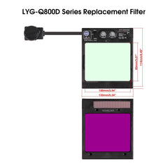 Welding Helmet Replacement Filter For Q800D | YesWelder Welding Supply Store