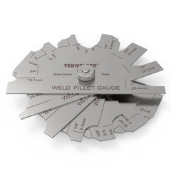 Metal Weld Fillet Gauges Set (7PCS) 1/8''-1'' | Welding Inspection Test Ulnar | YesWelder