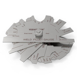 Metal Weld Fillet Gauges Set (7PCS) 1/8''-1'' | Welding Inspection Test Ulnar | YesWelder - YesWelder