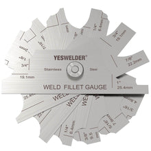 Load image into Gallery viewer, Metal Weld Fillet Gauges Set (7PCS) 1/8''-1'' | Welding Inspection Test Ulnar | YesWelder - YesWelder