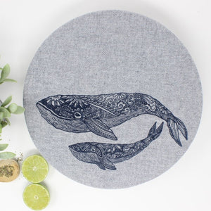 Whale Bowl Cover Set of 2