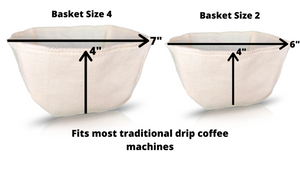 Basket Hemp Coffee Filters