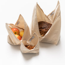Load image into Gallery viewer, Cotton Bento Bag Trio