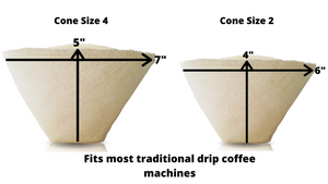 Cone Hemp Coffee Filters