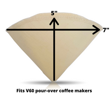 Load image into Gallery viewer, Hario V60 Hemp Coffee Filter