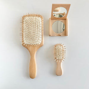 Rectangular Wooden Hair Brush