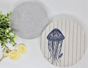 Jellyfish Bowl Cover Set of 2