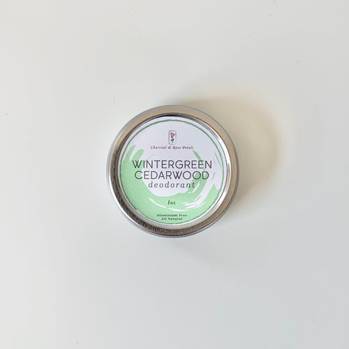 Wintergreen Cedarwood Deodorant Tin