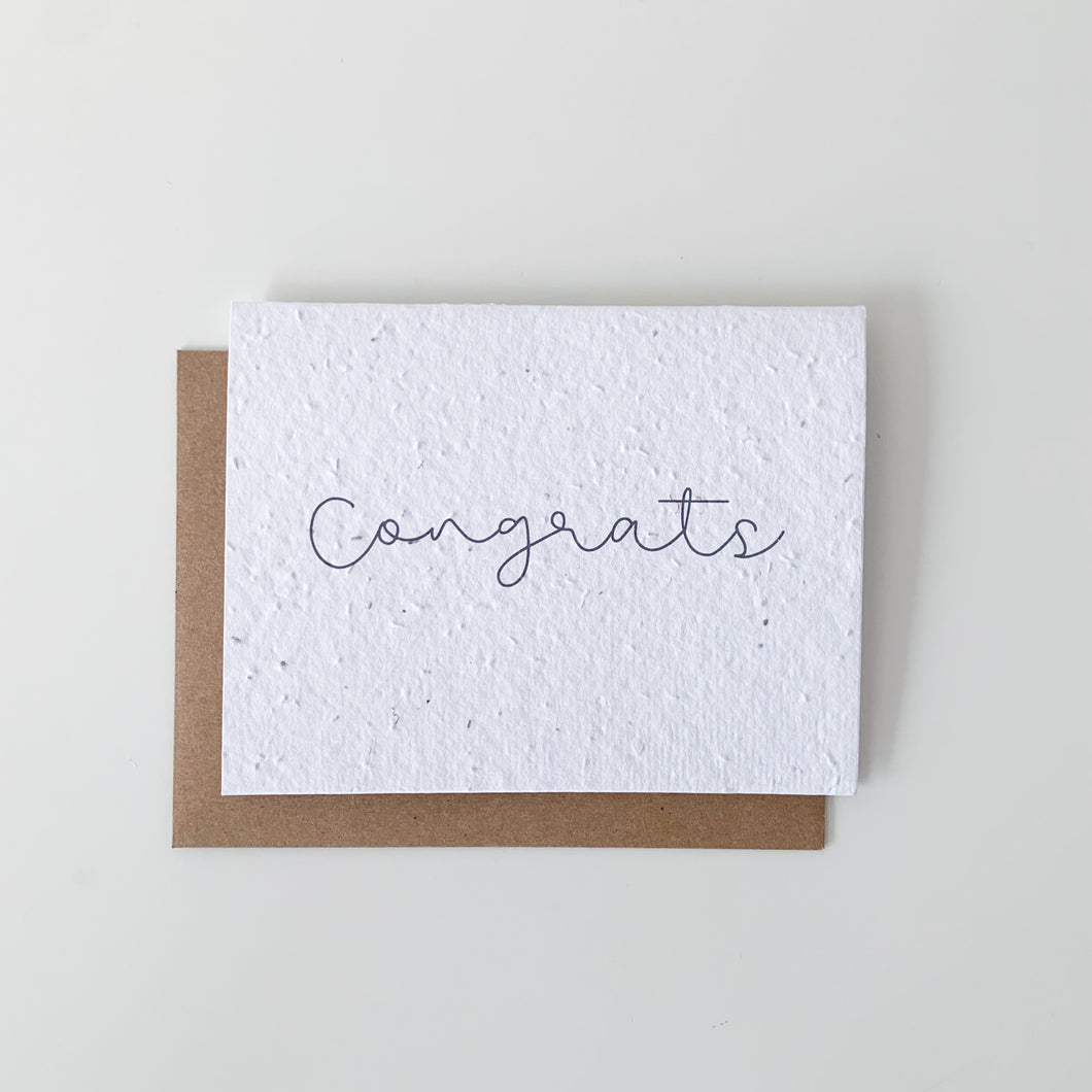 Congrats Seed Paper Card