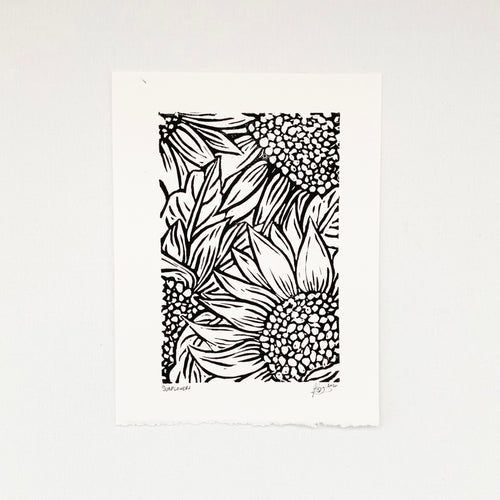 Sunflowers 6x8 Block Print