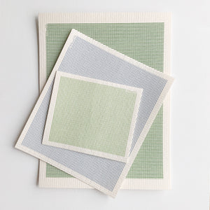 Sage Stripe Sponge Cloth