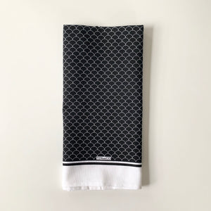 Black Scallop Tea Towel