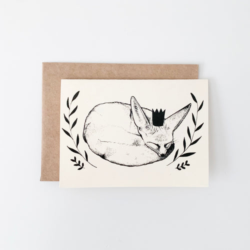 Fennec Fox Blank Greeting Card
