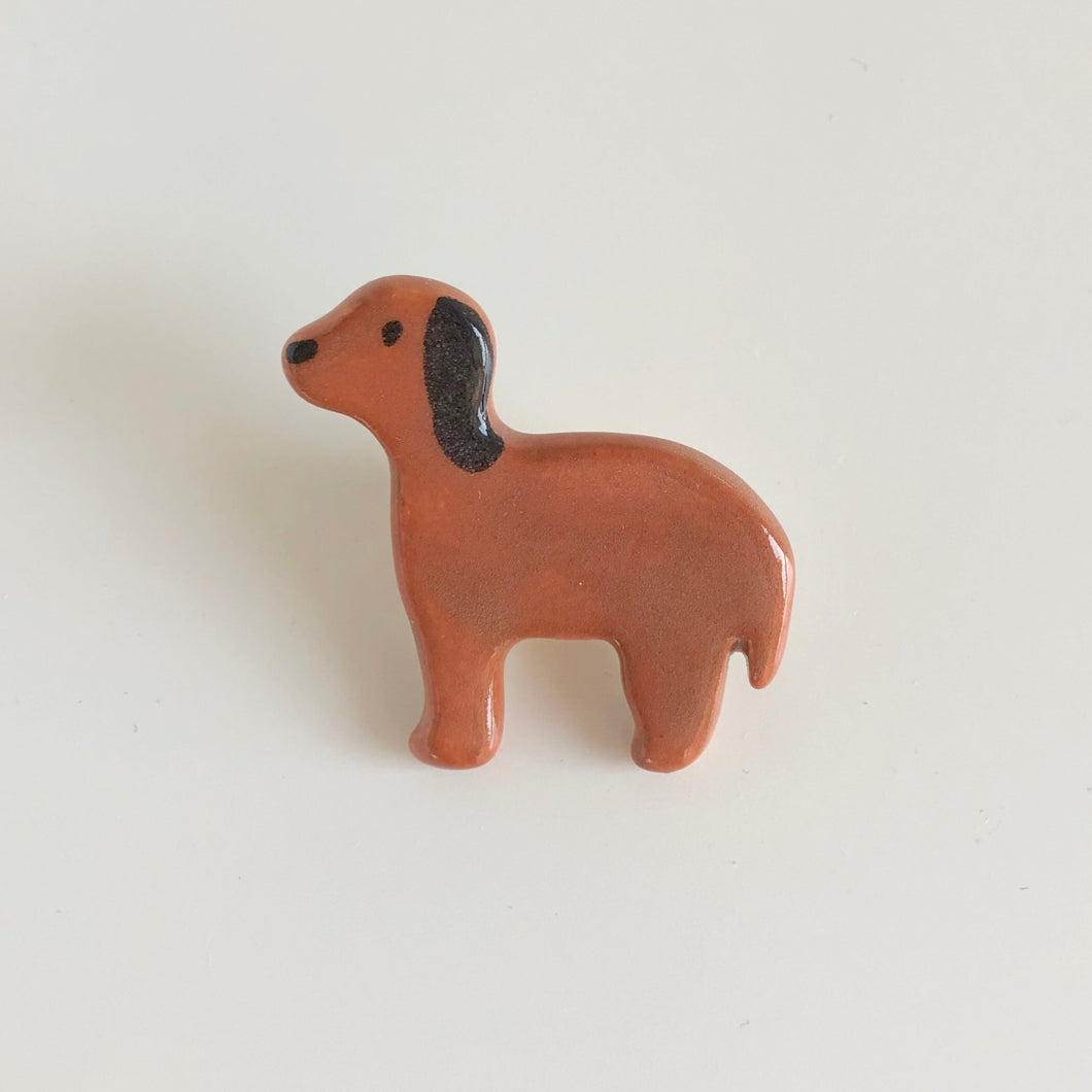 Brown Beagle Pin