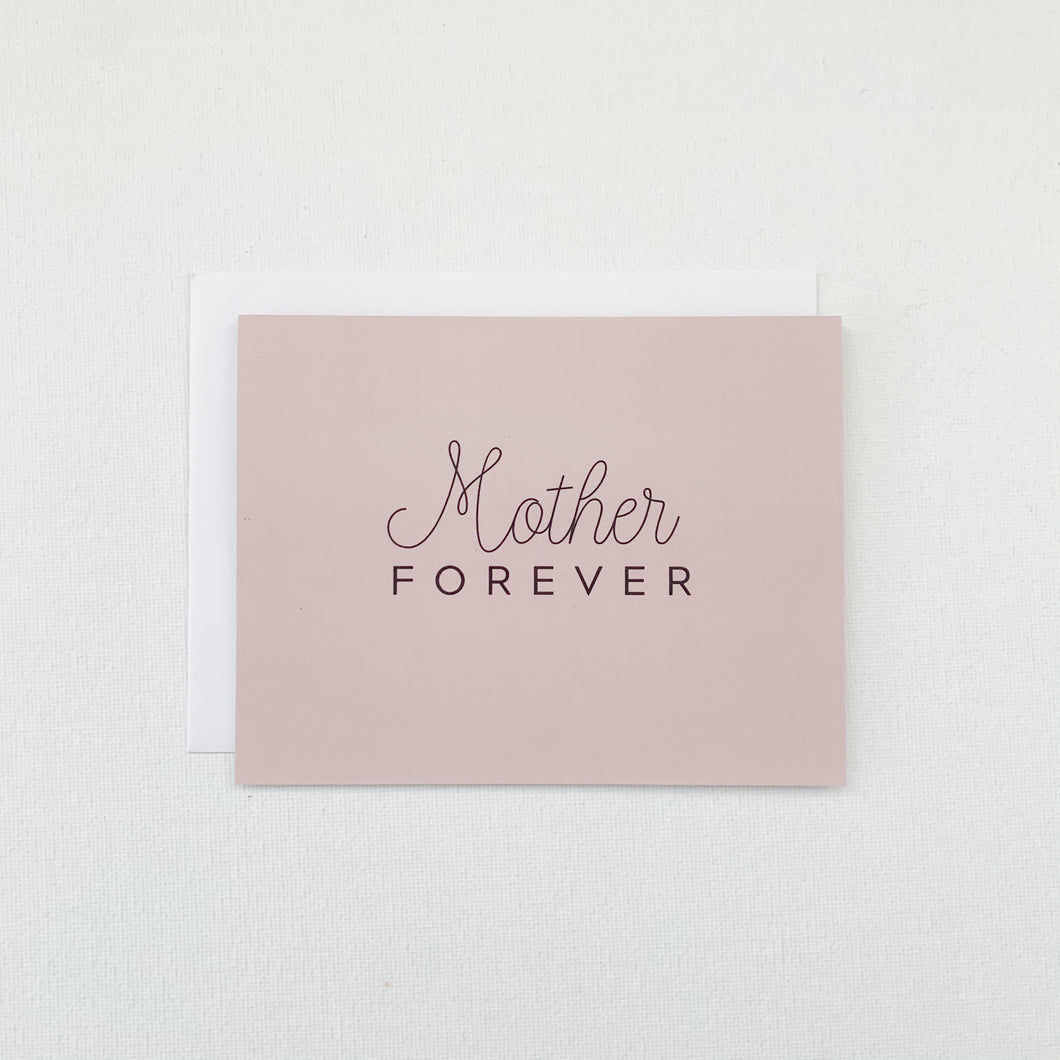 Mother Forever Grieving Card