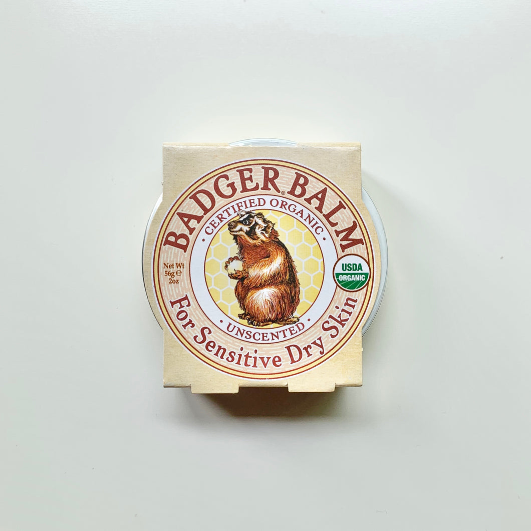Unscented Badger Balm for Hardworking Hands