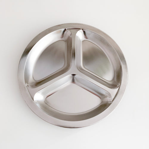 Stainless Steel Divided Food Plate
