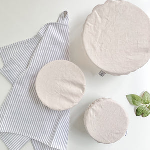 Linen Bowl Covers Set of 3