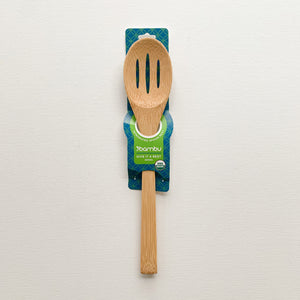 Give it a Rest Slotted Bamboo Spoon